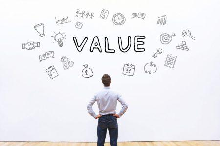 grafika jakie działania przekładają się na wzrost wartości z klienta; value