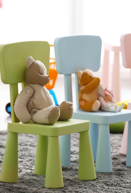 aranżacja kącika dziecięcego w poczekalni u lekarza, przyjaznego dla dzieci i rodziców