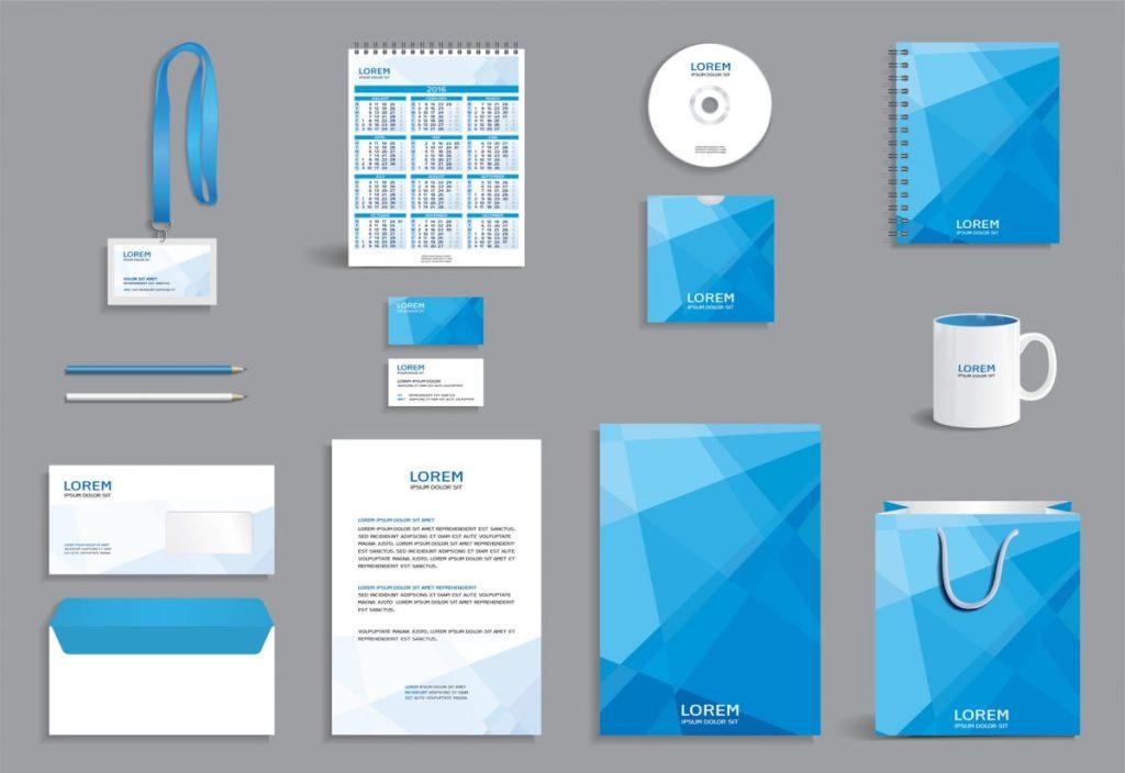 system identyfikacji wizualnej firmy, zestaw materiałów